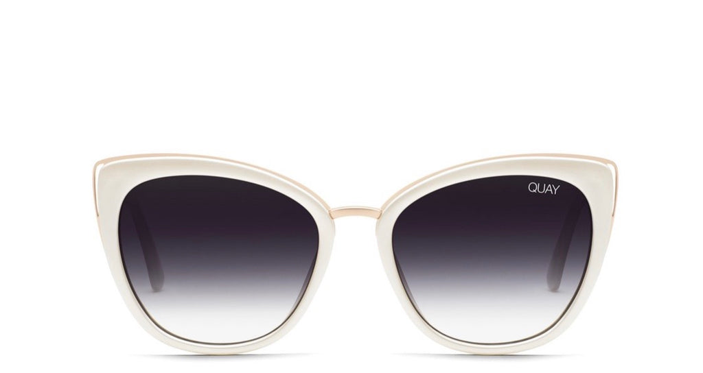 Quay Honey- pearl fade sunglasses