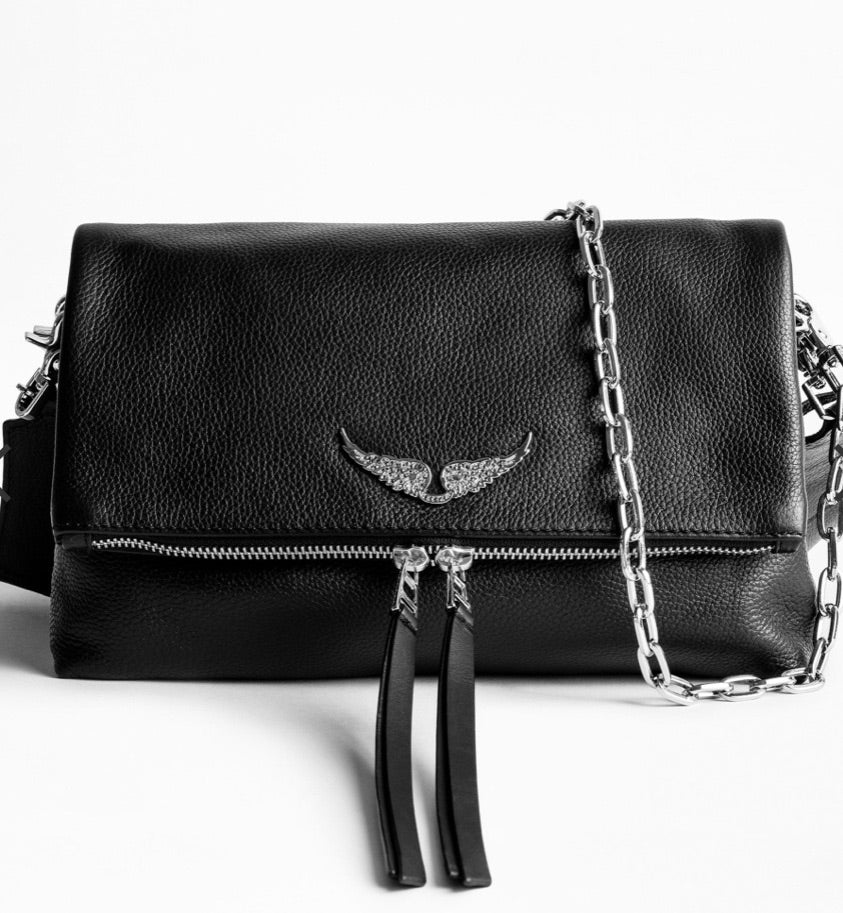 Zadig & Voltaire rocky grained leather purse - noir