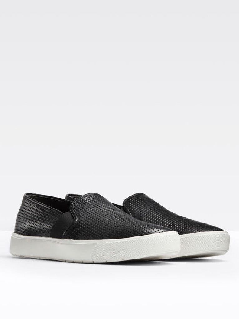 Vince Blair perforated black leather  sneaker