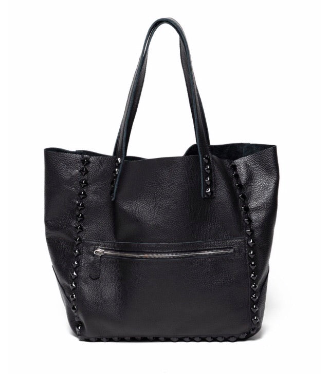 Laggo black Miley tote w black  studs