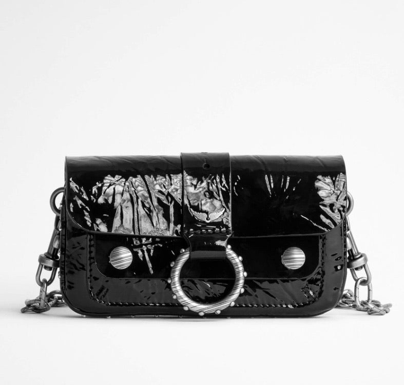Zadig & Voltaire Kate Wallet - wrinkle patent leather  black