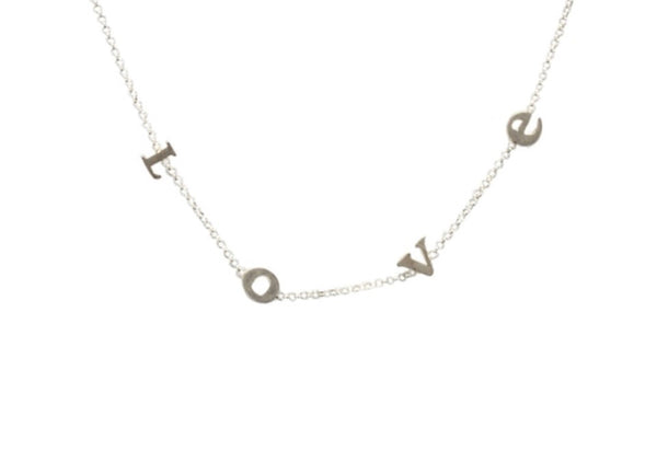 Dogeared do all things with L-O-V-E ss necklace