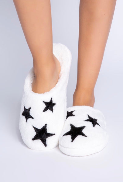 Pj salvage Ivory star slippers