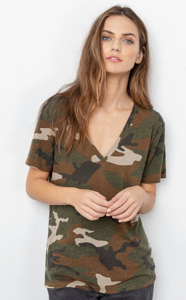 Rails Cara jungle camo shirt