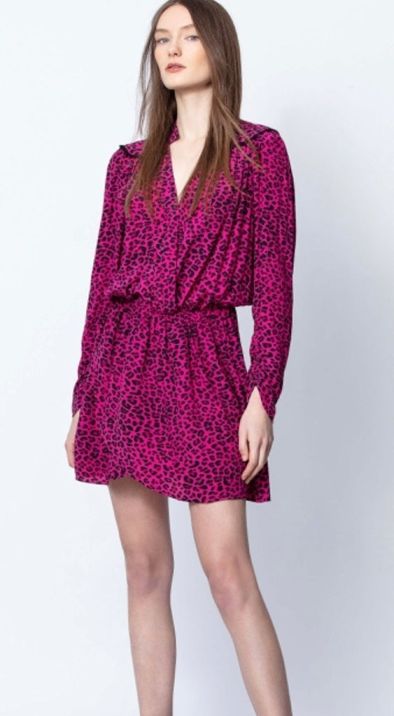 Zadig & Voltaire reveal print Leo - framboise dress