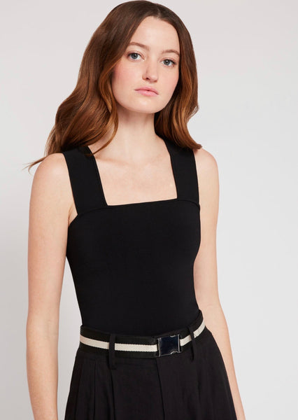 Alice & Olivia Rashida square neck cropped tank