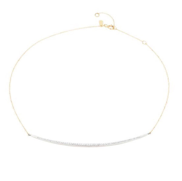Adina Reyter pave curve diamond collar necklace