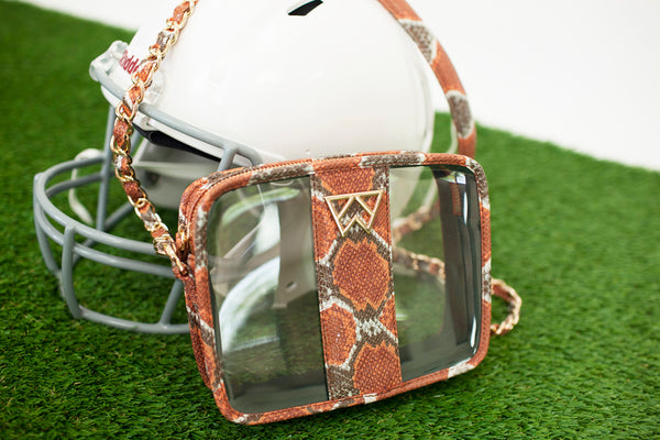 Kelly Wynne game day mini mingle clear purses