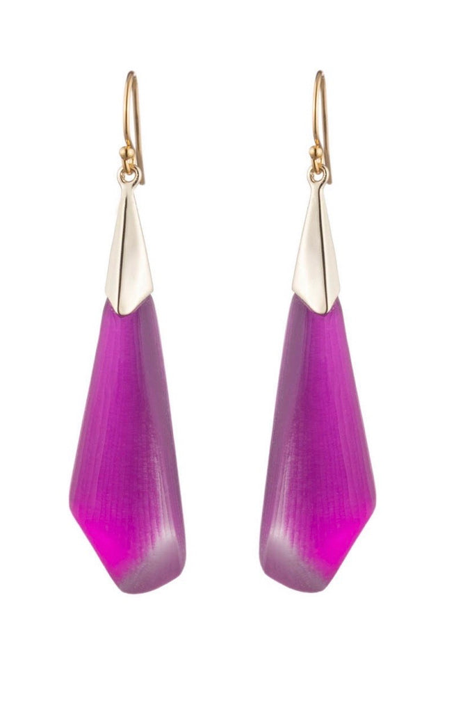 Alexis bittar faceted wire earrings- hot pink