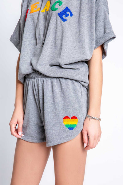 Pj salvage short luv rules - heather grey