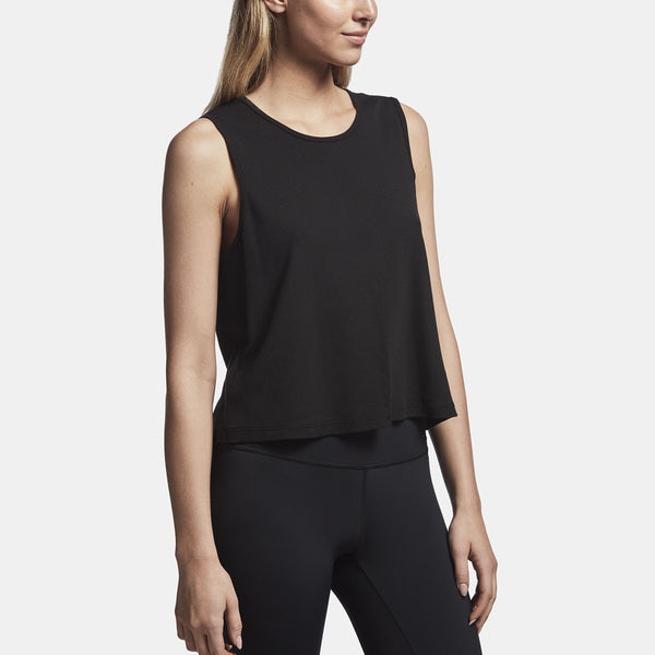 James Perse cropped ribbed tank