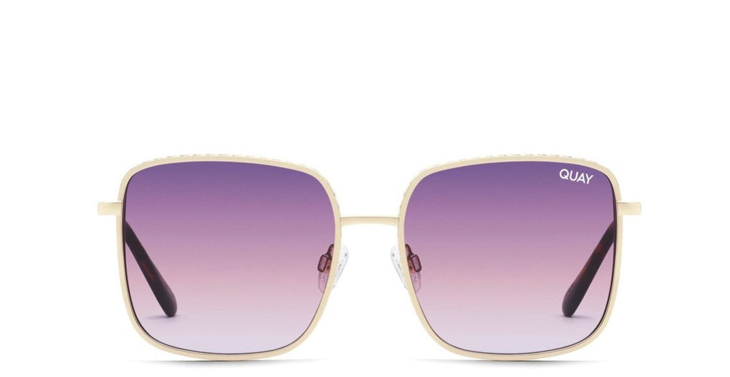 Quay Real One- gold purple/ pink