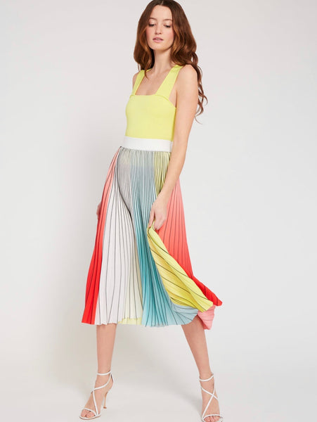 Alice & Olivia Arden please midi skirt