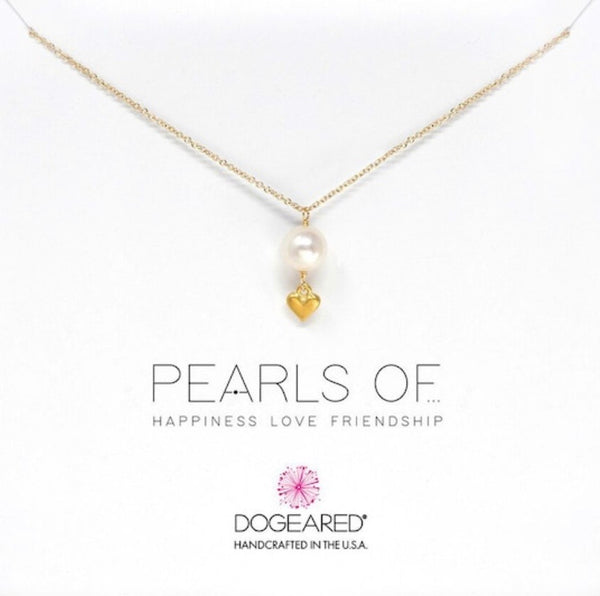 Dogeared Pearls of wisdom necklace - gold dipped