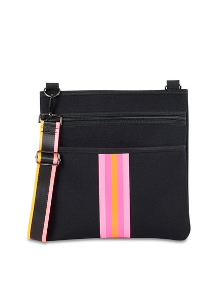 Haute Shore Peyton Soul - bk/pink and orange stripe crossbody