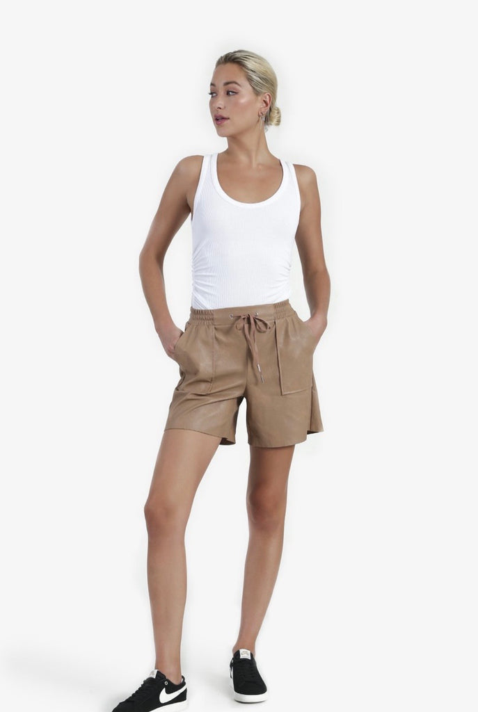 N philanthropy Samy vegan leather short- fern