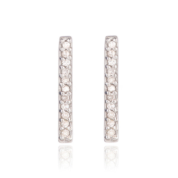 Adina Reyter Pave Bar Earrings SS