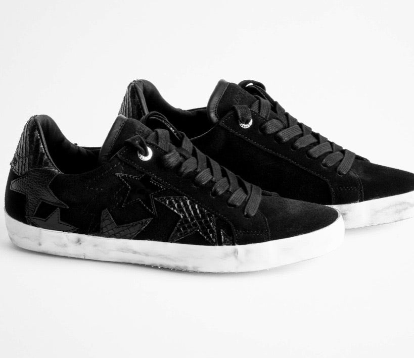 Zadig & Voltaire flash sterling patchwork sneakers