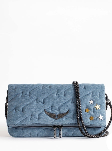 Zadig & Voltaire Rock ZV quilted Jeans purse