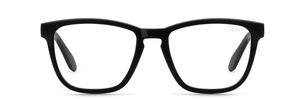 Quay hardwire blue blocker glasses - blk/clear