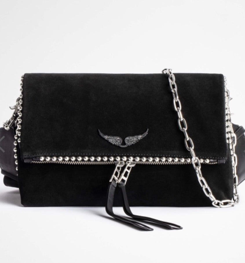Zadig & Voltaire Rocky Suede with studs purse