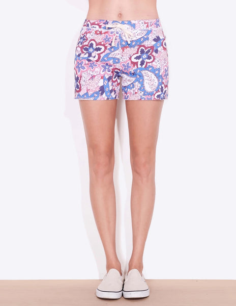 Sundry Paisley cut off shorts