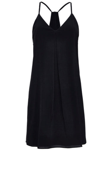 Alice & Olivia Fierra Y Back Tank Black Dress