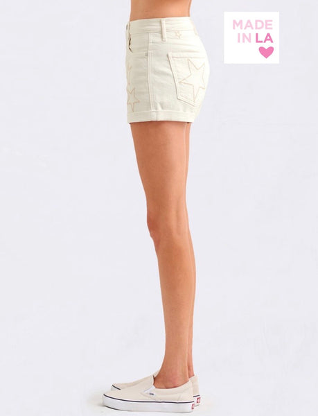 Sundry Tonal stars shorts- off white