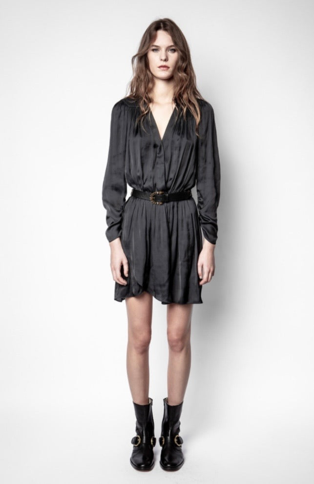 Zadig & Voltaire Reveal Satin Dress- Noir