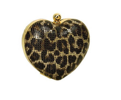 Whiting & Davis heart  MINAUDIERE purse