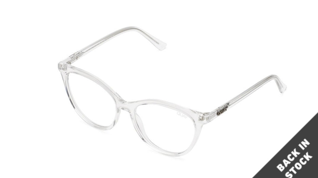 Quay all nighter- blue blocker glasses - clear