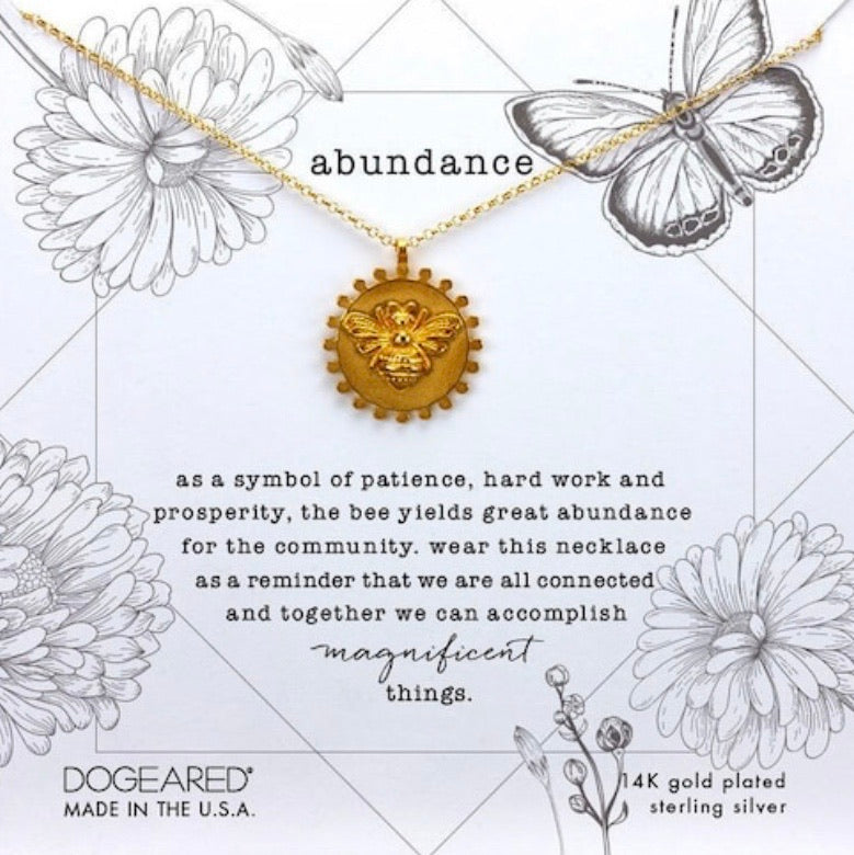 Dogeared abundance- bee gold