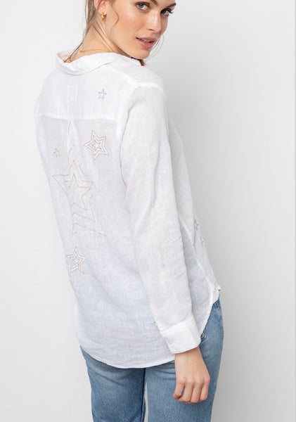Rails Charli metallic stars shirt