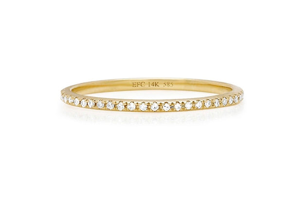 EF Collection 14k Y gold eternity stack ring _ .17 Ct size 6