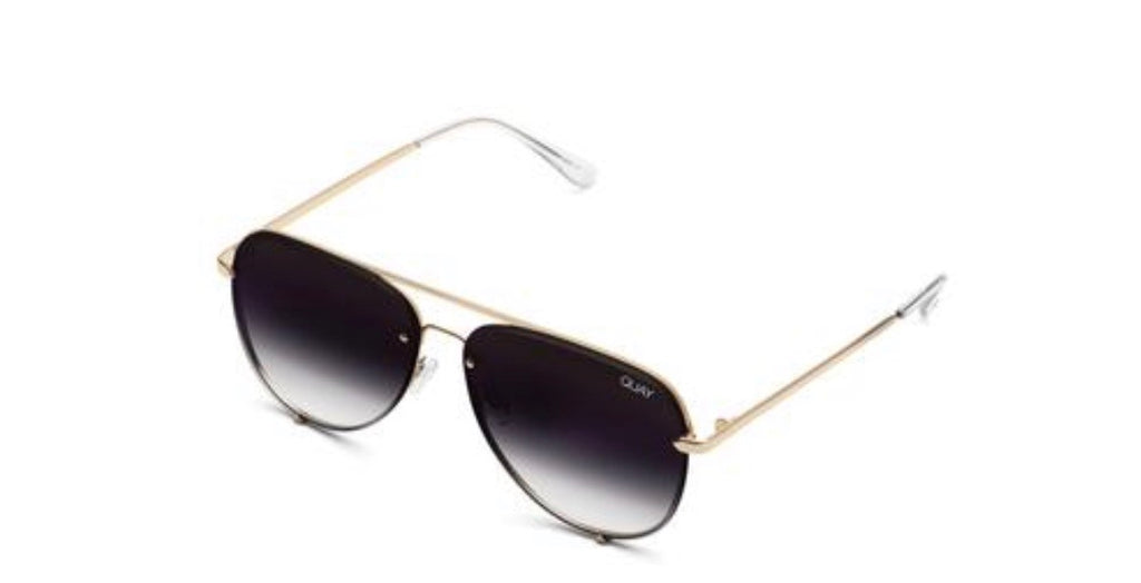 Quay high key mini rimless - gold fade