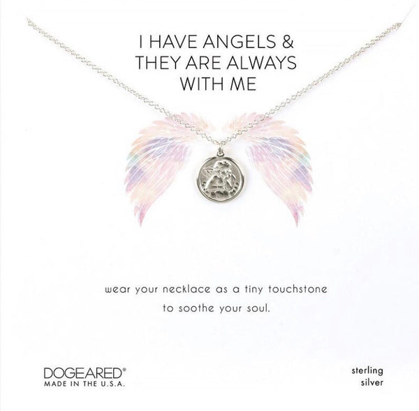 Dogeared I have Angels silver necklace