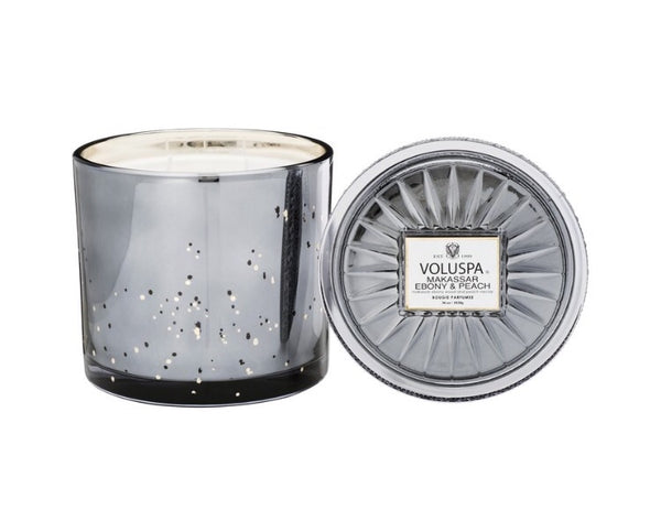 voluspa boxed makasar and ebony candle w lid