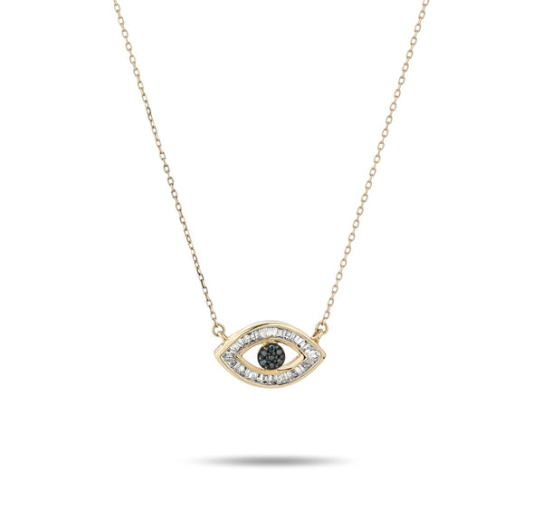 Adina Reyter Baguette evil eye necklace- y14