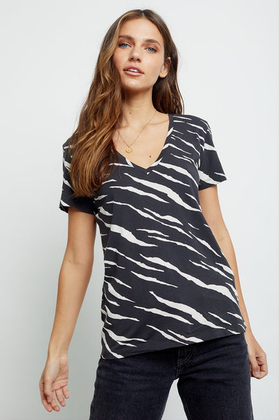 Rails Cara black abstract tiger tee shirt