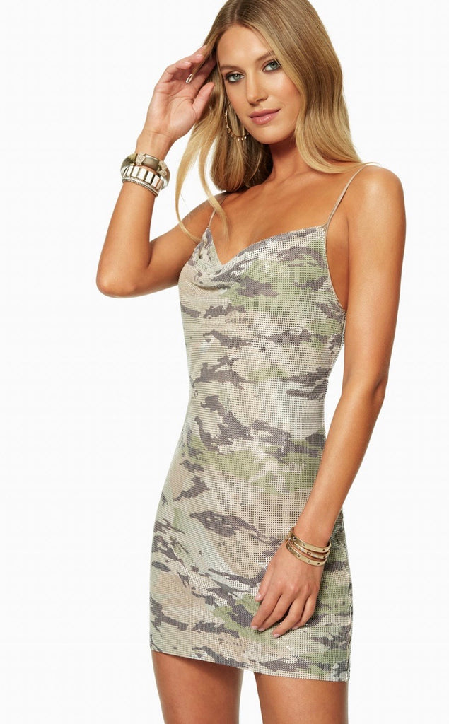 Ramy Brook Lyla dress-  camouflage sequin