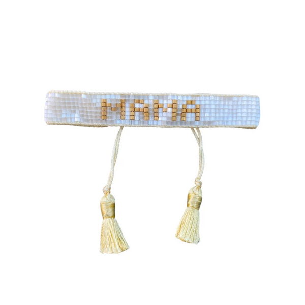 Hart small white/gold mama bracelet