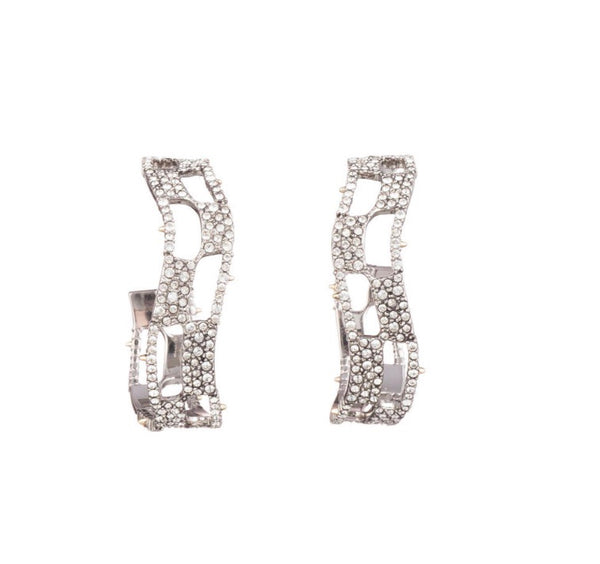 Alexis Bittar checkerboard hoop earrings