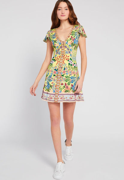 Alice & Olivia Hadley button front flare dress