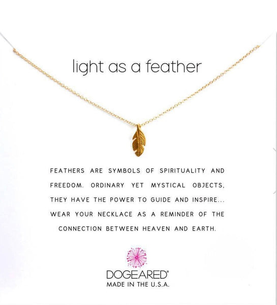 Dogeared Light as a Feather - gold
