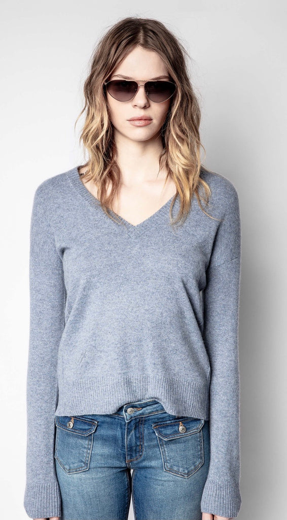 Zadig & Voltaire VIVI PATCH CASHMERE SWEATER