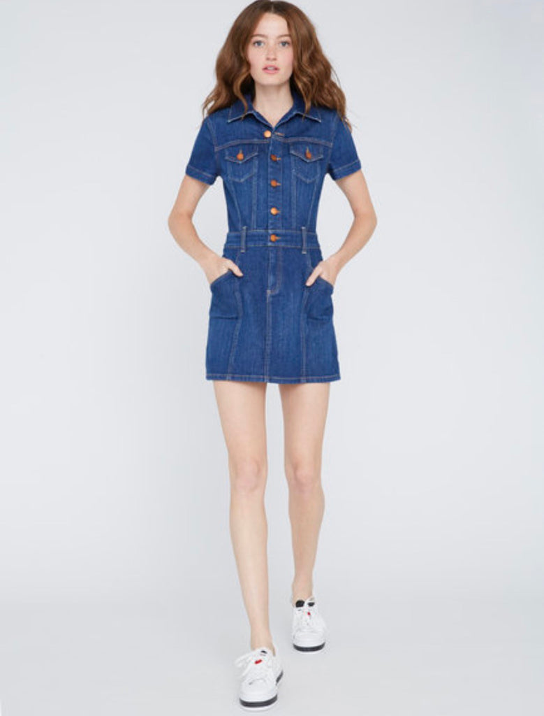 Alice +Olivia The Time  is Now Jean mini dress