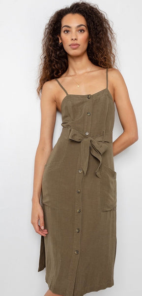 Rails Evie deep olive dress