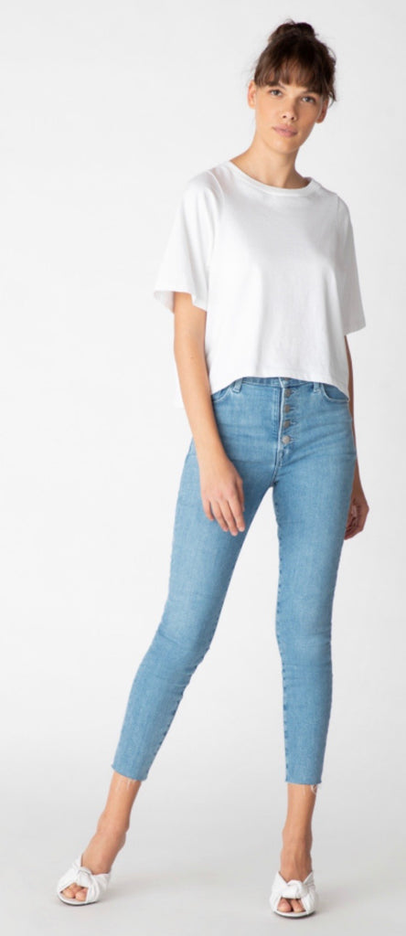 J brand Lillie high rise crop skinny - cloudy