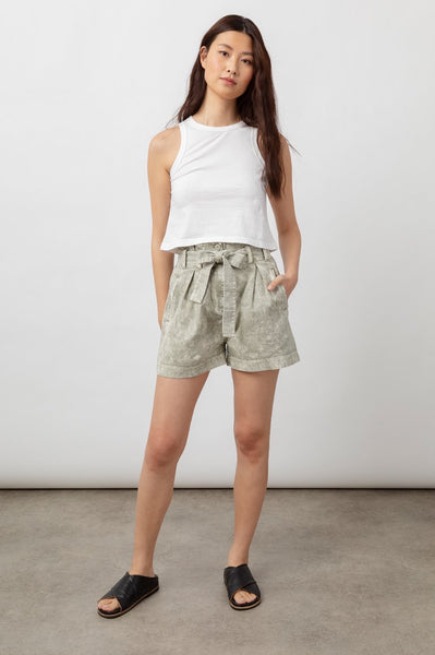 Rails BELLE - LIGHT SAGE ACID WASH shorts