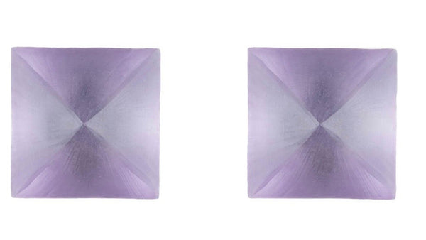 Alexis Bittar pyramid post earrings purple